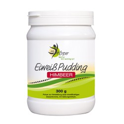 Eiweiss Pudding Himbeer