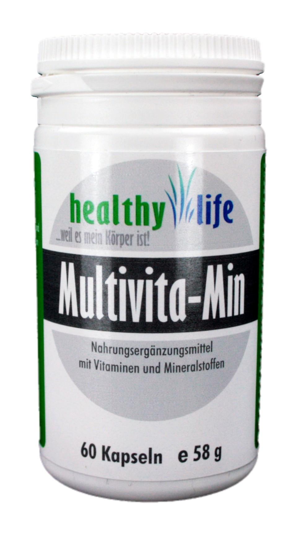 "Multivita-Min"" 60 Kapseln e 58g - Cosmos Bodystyling"